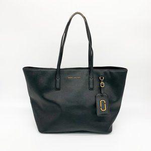 MARC JACOBS Saffiano Leather Tote Bag Black